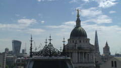 Central Criminal Court - 'Old Bailey' rooftops Stock Footage