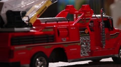 Auto Crash Scene Made From Toys Stock Footage