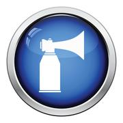 Football fans air horn aerosol icon Stock Illustration
