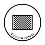 Icon of photo camera sensor Stock Illustration