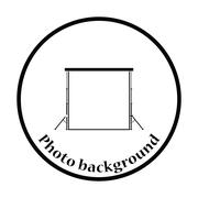 Icon of studio photo background Stock Illustration