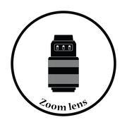 Icon of photo camera zoom lens - stock illustration