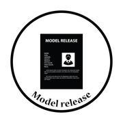Icon of model release document - stock illustration