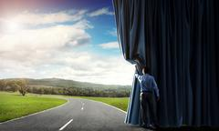 New routes and opportunities Stock Photos