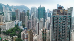 Hong Kong Apartments Day to Night Stock Footage