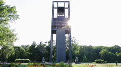 The Netherlands Carillon in Washington DC Stock Footage