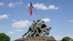 The Marine Corps War Memorial  Stock Footage