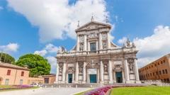 Basilica di Santa Maria in Porto Stock Footage