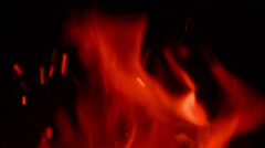 Hot Yellow Flames Of Burning Fire - stock footage
