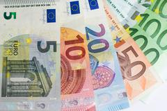 Cash money - euro bills , european money Stock Photos
