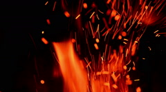 Moving Red Hot Flames Of Fire - stock footage