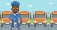 School bus driver vector illustration Stock Illustration