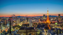 Tokyo Japan Skyline Time Lapse Stock Footage