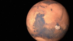 The planet Mars satellite Phobos Stock Footage