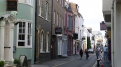 Traditional English street in Brighton Stock Footage