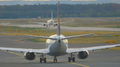 Lufthansa Boeing 737 taxiing Stock Footage