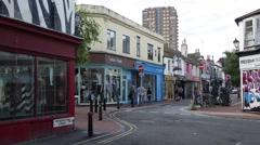 Brighton: Lanes - Bohemian area of the city Stock Footage