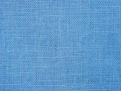 Natural blue fabric weaving as background texture - stock photo