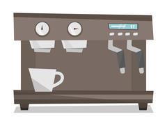 Modern coffee machine vector illustration Stock Illustration