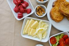 Traditional Rich Turkish Breakfast - stock photo
