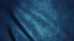 Realistic Ultra-HD jeans cloth waving in the wind. Seamless loop with highly Stock Footage
