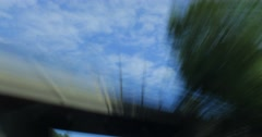 Drive Lapse. Highway, Day. Sky. Stock Footage