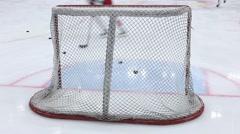 Hockey gates closeup Stock Footage