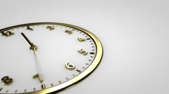 Clock Time Lapse. Gold watch. Stock Footage