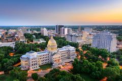 Jackson, Mississippi Skyline Stock Photos