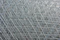 Re-bar Grid Background - stock photo