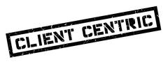 Client centric rubber stamp Stock Illustration