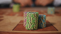 Loss - Dealer takes the chips, which put the player. Stock Footage