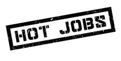 Hot jobs rubber stamp - stock illustration