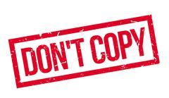 Don't copy rubber stamp Stock Illustration