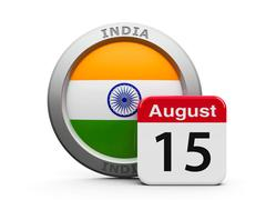 Indian Independence Day Stock Illustration