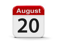20th August - stock illustration