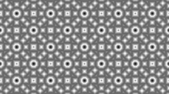 Black and white flower pattern animation Stock Footage