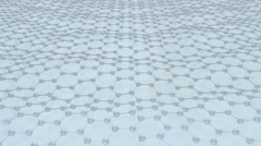 Moving atoms in hexagon network. - stock footage