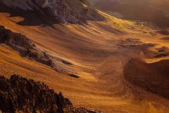 Detail of volcanic landscape at Haleakala national park, Maui Stock Photos