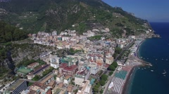 Aerial View of Maiori, Amalfi coast, Italy Stock Footage