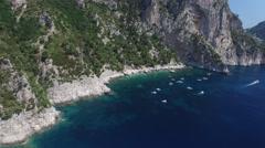 Aerial View of Capri Island, Italy Stock Footage