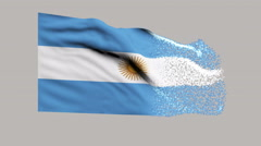 Flag of Argentina Stock Footage