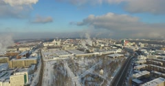 Thermal power plant aerial Stock Footage