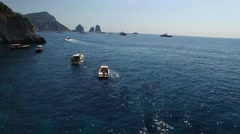 Aerial View of Capri Island, Italy Stock Footage