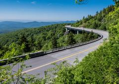 Linn Cove Viaduct Stretches Out Stock Photos