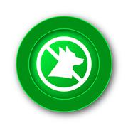Forbidden dogs icon. Internet button on white background.. - stock illustration