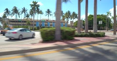 Bayside sign Miami Florida Stock Footage