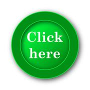 Click here icon. Internet button on white background.. Stock Illustration