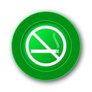 No smoking icon. Internet button on white background.. - stock illustration