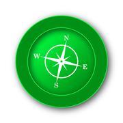 Compass icon. Internet button on white background.. - stock illustration